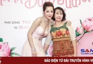 """Chi Pu mặc trễ ngực, được mẹ hộ tống ra mắt phim """"Mối tình đầu của tôi"""""""