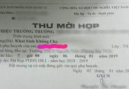 Cô giáo gửi thư mời họp phụ huynh ghi 'khai sinh không cha' lý giải do sơ suất