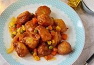 Cả nhà ngon cơm với món gà viên xốt rau củ đậm đà lạ miệng