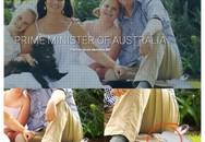 Bị Photoshop hỏng, thủ tướng Australia có hai chân trái trong ảnh