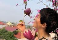 """Tiên phong trồng mộc lan """"trên không"""", mẹ Hà Nội mạnh tay thuê cần cẩu đưa cây lên sân thượng"""