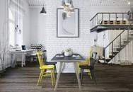 Căn hộ 25m² chuẩn phong cách Scandinavia sử dụng màu vàng táo bạo
