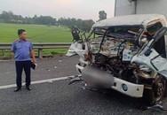 Xe tải vỡ nát khi tông đuôi xe tải khác trên cao tốc, 2 cha con tử vong thương tâm