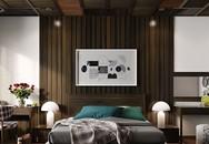 Khiến phòng ngủ ấn tượng hơn bằng tường gỗ
