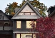 Mẫu nhà mái tam giác 2 tầng đẹp long lanh với chi phí thấp