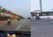 Rùng mình cảnh hai người phụ nữ bị tai nạn khi điều khiển xe máy ôm cua với tốc độ cao gần sân bay Nội Bài