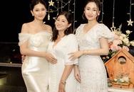 Á hậu Thanh Tú và Trà My mừng kỷ niệm ngày cưới của bố mẹ