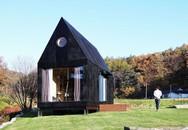 Ngôi nhà 20 m2 không sử dụng đồ trang trí tiện nghi giữa đồng cỏ
