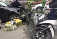 """Hà Nội: """"Xế hộp"""" gây tai nạn liên hoàn, nhiều người bị thương"""