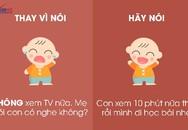 """9 câu nói hữu hiệu thay vì nói """"không"""" với trẻ"""