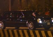 """Xe """"quái thú"""" chở Tổng thống Donald Trump đã về đến khách sạn Marriot"""