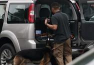 Chó nghiệp vụ Mỹ kiểm tra tất cả các xe ô tô vào khách sạn Marriott, nơi Tổng thống Trump lưu trú