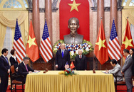 ẢNH: Tổng Bí thư, Chủ tịch nước Nguyễn Phú Trọng tiếp Tổng thống Donald Trump