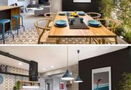 Căn hộ đầy cá tính và lôi cuốn nhờ sự kết hợp ấn tượng của bê tông, gỗ, gạch ốp và màu đen