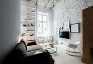 Căn hộ màu trắng nhỏ xinh có thiết kế nội thất phù hợp với cuộc sống thành phố sôi động