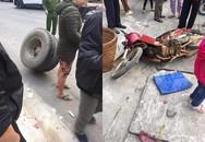 Hy hữu: Bị bánh xe tải đang di chuyển văng trúng khi đi giữa đường, tài xế xe máy bị thương