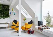 Ngôi nhà trắng tinh với điểm nhấn là các màu đơn sắc nổi bật, tưởng không xinh mà hóa ra lại xinh không tưởng