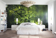 Phòng ngủ ấn tượng nhờ giấy dán tường chân thực đến khó tin