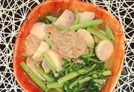 Cách nấu canh cua khoai sọ rau rút đơn giản