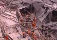 Sập tòa nhà ở Thượng Hải, 9 công nhân mắc kẹt