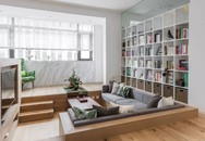 Choáng toàn tập với ngôi nhà sở hữu phòng khách chìm và không gian lưu trữ rộng lớn ẩn dưới mặt sàn bằng gỗ
