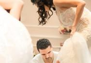 Chồng Tây giúp Phương Mai thử váy, đi giày cưới