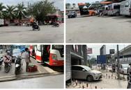 Hà Nội: Ô tô, mô tô thoải mái rú ga, tạt đầu xe khách ngay trong bến xe Nước Ngầm