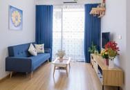 Căn hộ 66m² trên tầng cao với thiết kế đơn giản ở quận Thanh Xuân của gia chủ yêu màu xanh biển
