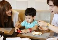 Thu Thủy đi chơi cùng con riêng và bạn trai kém 10 tuổi