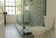 Sử dụng gạch lát sàn họa tiết sẽ khiến bạn phải ngỡ ngàng khi bước vào phòng tắm