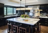 Căn bếp dùng màu đen chủ đạo: Vừa ấn tượng lại không sợ lỗi thời