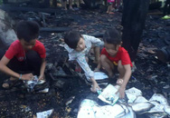 Nhà cháy trong lúc cha mẹ đi chữa bệnh, 3 anh em ngơ ngác bên đống tro tàn