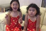 Hai con gái đáng yêu, giỏi ngoại ngữ của Hương Giang