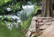 Bờ Hồ bị sạt lở nghiêm trọng: Quận Hoàn Kiếm sẽ triển khai thi công bờ kè cuối năm 2019