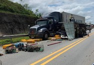 Kinh hoàng 3 xe ô tô đâm nhau trên cao tốc khiến 3 người bị thương