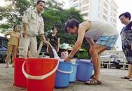 Nhiều nơi tại Hà Nội có nguy cơ mất nước sạch do mực nước sông Đà xuống thấp