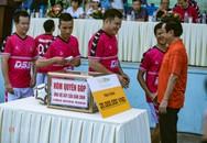 """""""Ông trùm"""" Phan Quân đưa quân đá giao hữu bóng đá gây quỹ từ thiện tại Quảng Ninh"""