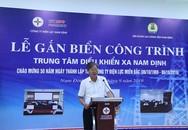 Nam Định: Gắn biển công trình Trung tâm Điều khiển xa chào mừng 50 năm ngày thành lập Tổng công ty Điện lực miền Bắc