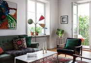 Căn hộ rộng 75m² được trang trí với sắc màu tươi vui, mát mắt quá đỗi phù hợp cho nhà có trẻ nhỏ