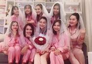 """Nhã Phương gây bất ngờ khi xuất hiện trong """"tiệc ngủ"""" chia tay thời độc thân của Hoang Oanh"""