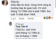 Công Vinh bị cư dân mạng 'mỉa mai' chuyện khai gian tuổi, Thủy Tiên đáp trả cực 'gắt'