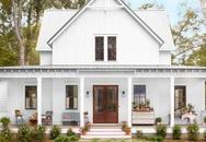 Ngôi nhà màu trắng đẹp ngỡ ngàng ở miền quê xanh mướt mát ai cũng thích mê