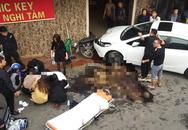 Hà Nội: Ô tô tông xe máy giữa phố đông, 1 người bị thương nặng