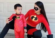 Ở Mỹ, Phạm Hương và con trai hóa trang cool ngầu mừng Halloween