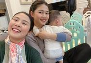 Á hậu Thanh Tú ôm con đi hội ngộ đội mỹ nhân Hoa hậu Việt Nam