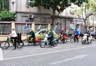 Đạp xe tuyên truyền chống dịch COVID-19