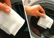 Công dụng của việc cho hai tờ khăn ướt vào máy giặt khiến bà nội trợ nào cũng muốn học theo