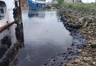 Hà Tĩnh: Nhiều vết dầu luyn đen ngòm bên bờ sông Lam