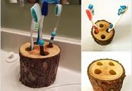 Đừng dại mà cắm toàn bộ bàn chải đánh răng vào cùng 1 chỗ, hãy tận dụng đồ bỏ đi để cất giữ chúng