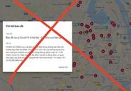 Sự thật về bản đồ dịch COVID-19 tại Hà Nội trên mạng internet